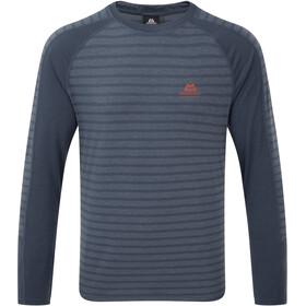 Mountain Equipment Redline Bluzka z długim rękawem Mężczyźni, denim blue stripe/denim